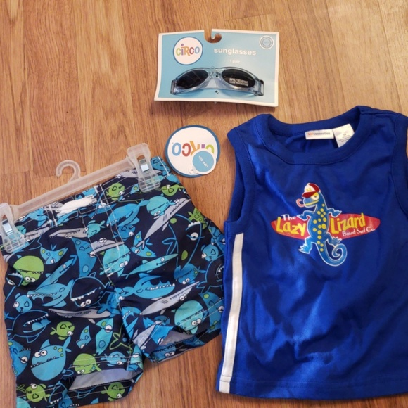 70f39142257 Boys swim short sunglasses   tank shirt. NWT. circo   kid connection